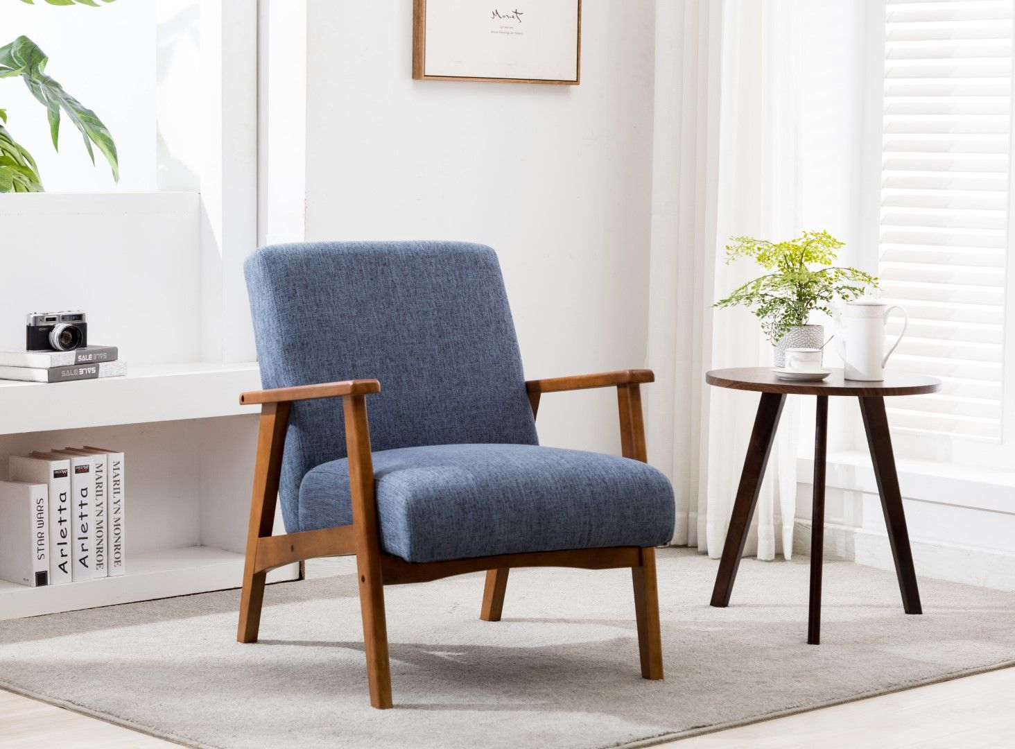 Porthos Home Layla Accent Chair With Beech Wood Legs Arms And Hemp Fabric Upholstery Great For Living Rooms Bedrooms And Small Offices Walmart Com Accent Chairs For Living Room Furniture