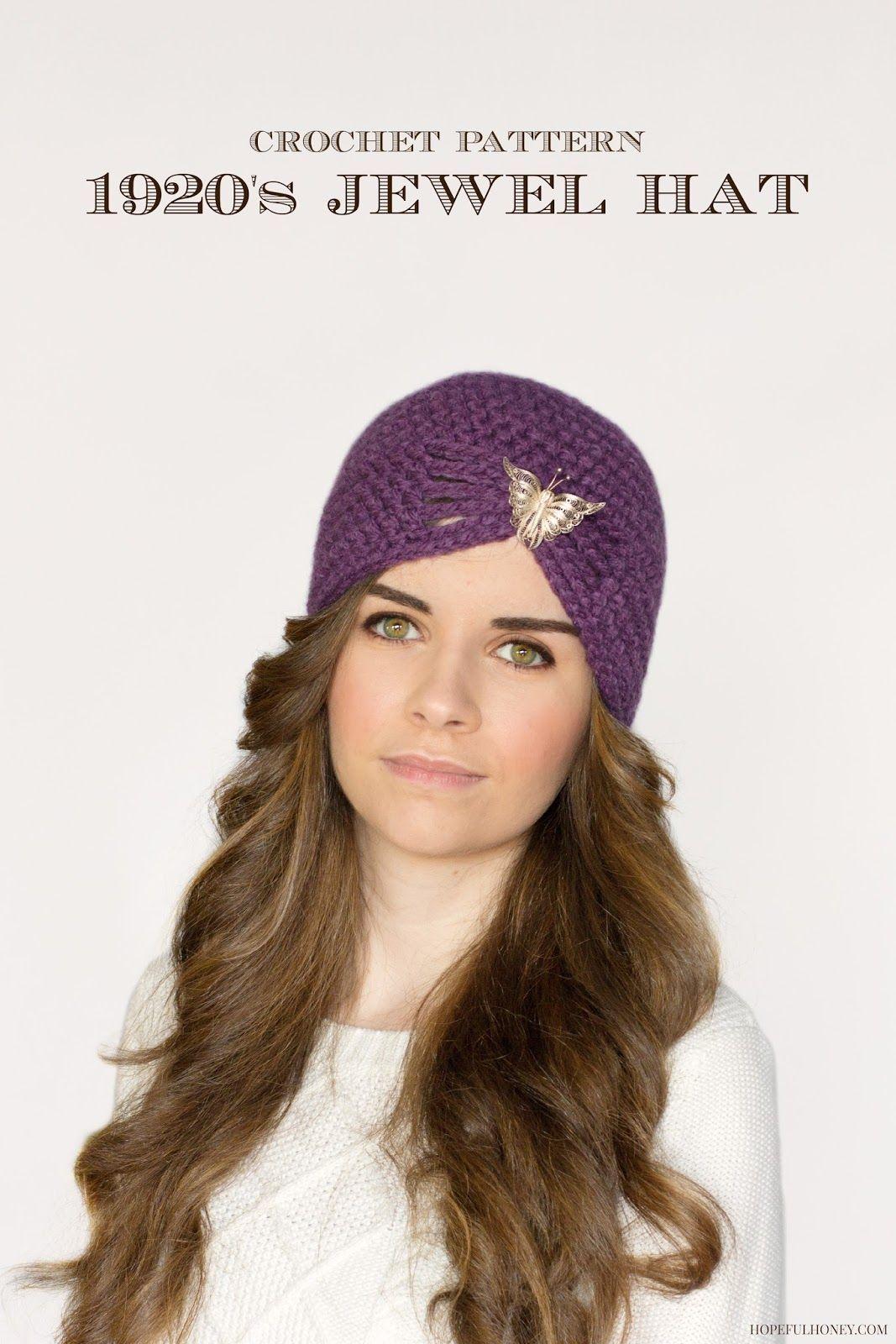 1920\'s Jewel Flapper Hat Crochet Pattern | Pinterest | Flapper hat ...