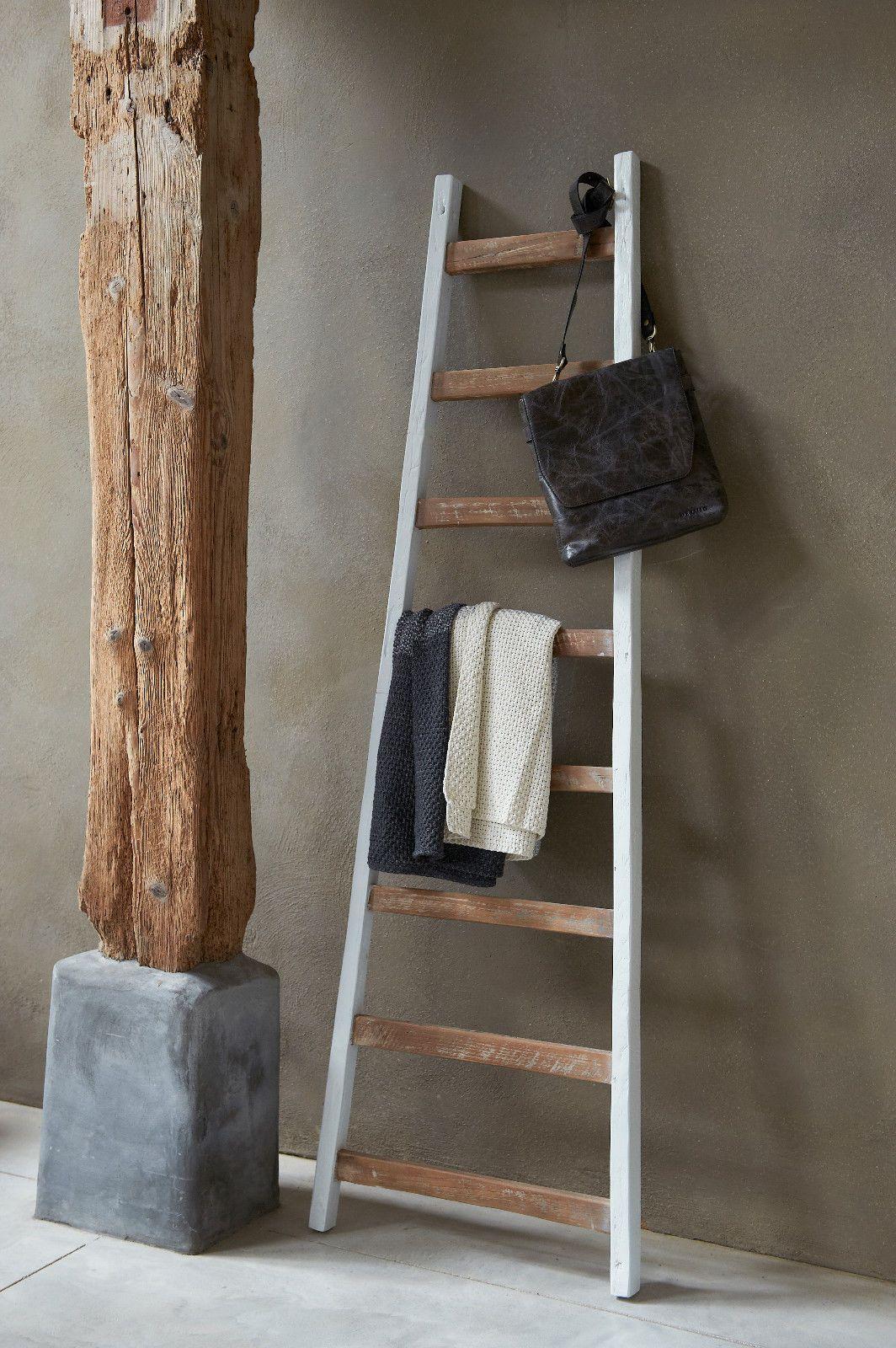 deko holzleiter solo h175cm vintage shabby handtuchhalter kleiderst nder in m bel wohnen. Black Bedroom Furniture Sets. Home Design Ideas