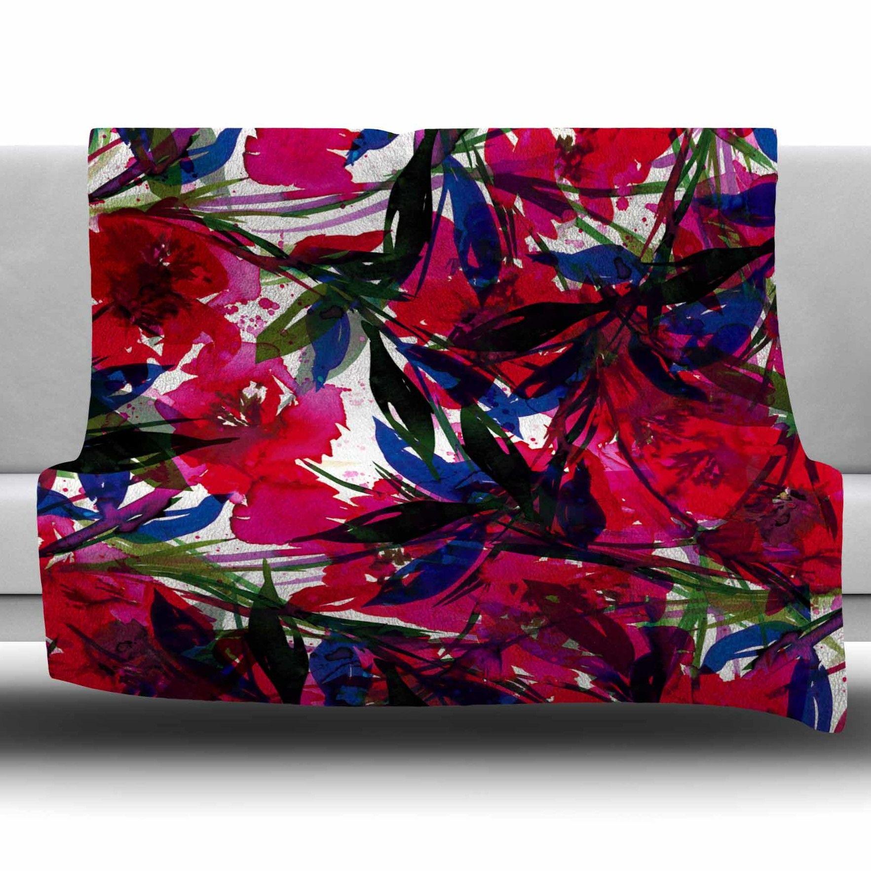 Floral fiesta fleece throw blanket products pinterest fleece
