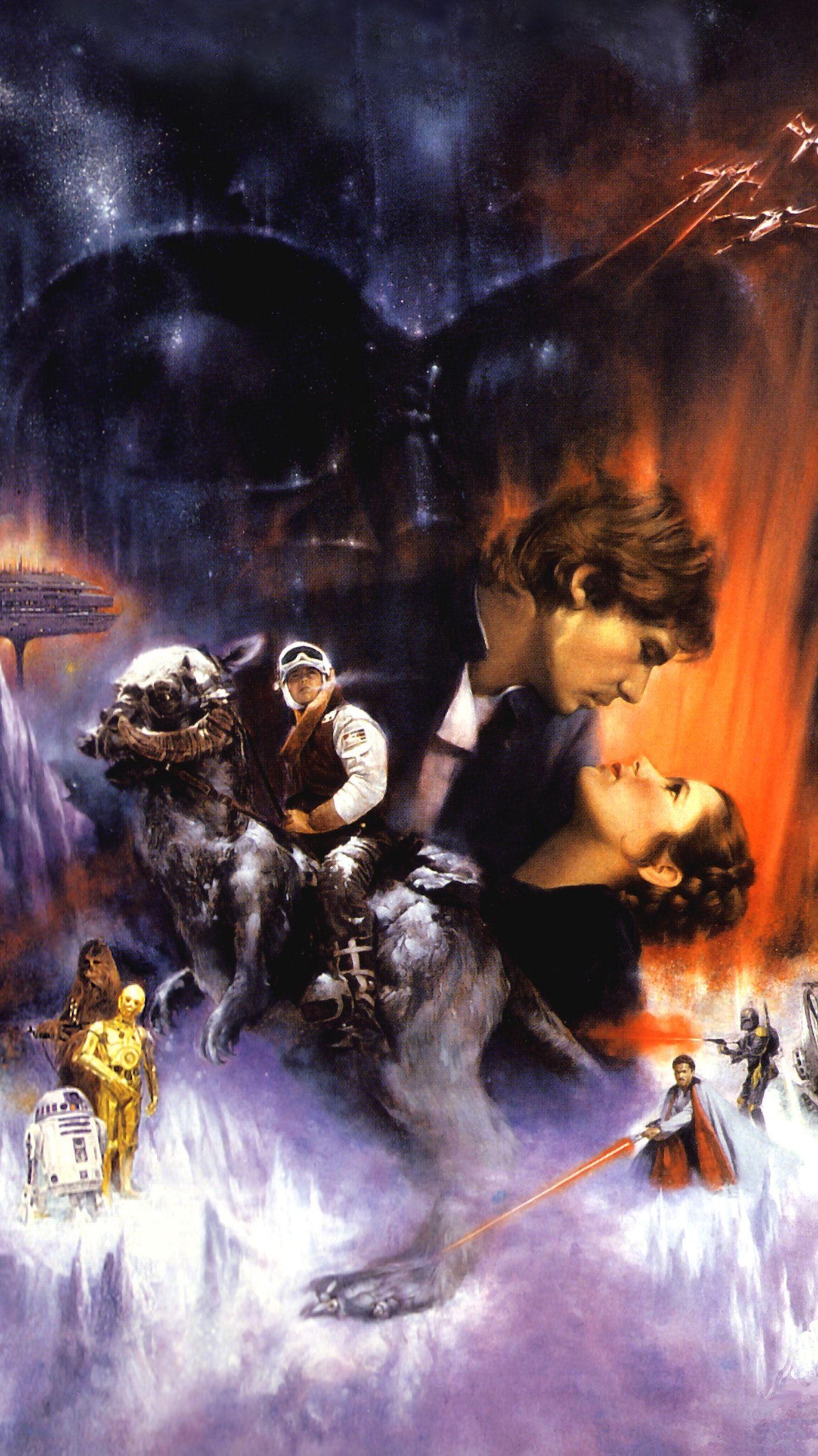 The Empire Strikes Back 1980 Phone Wallpaper Moviemania Star Wars Art Star Wars Background Star Wars Artwork
