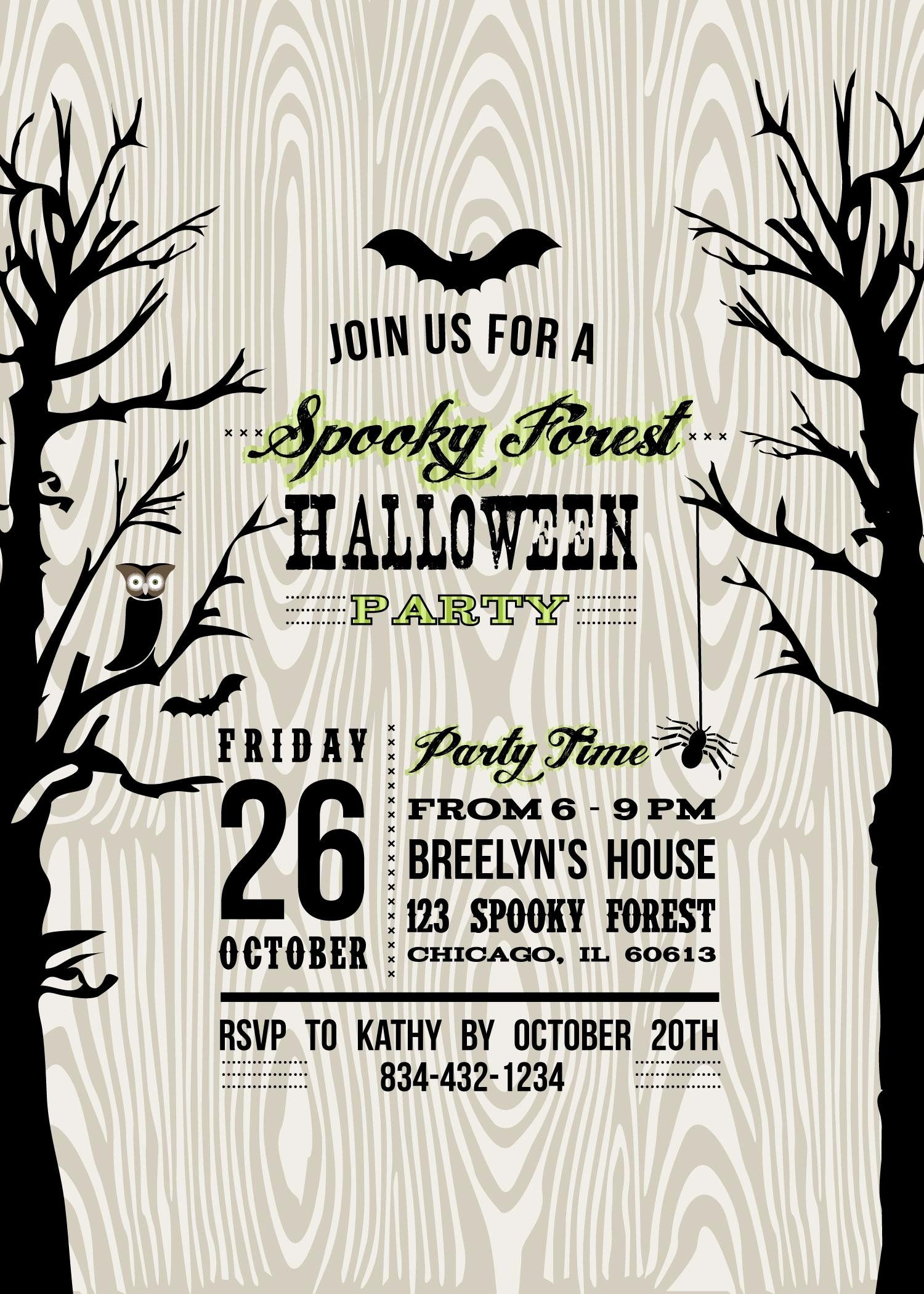 Free Halloween Party Invitation Template Fresh Halloween Invitation Halloween Party Invitations Free Halloween Party Invitations Halloween Invitation Templates
