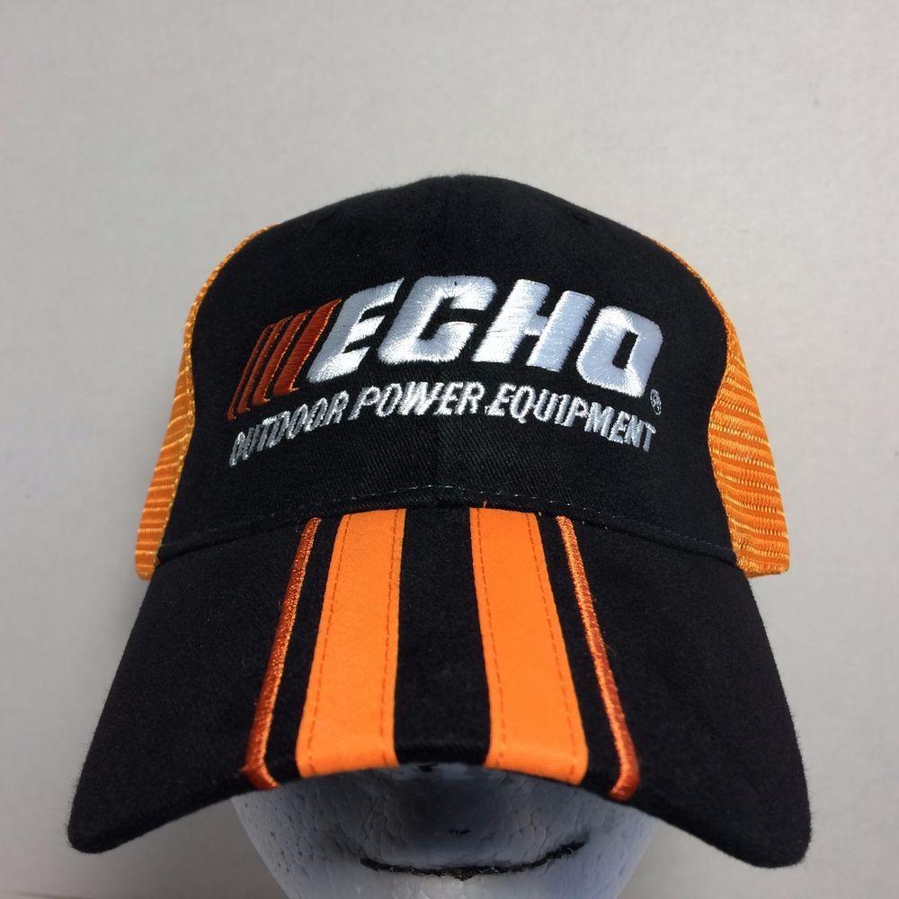 acc0287325fdf3 ECHO Outdoor Power Equipment Black Orange Net Baseball Cap Hat #Echo #hat # cap #outdoors #lawn