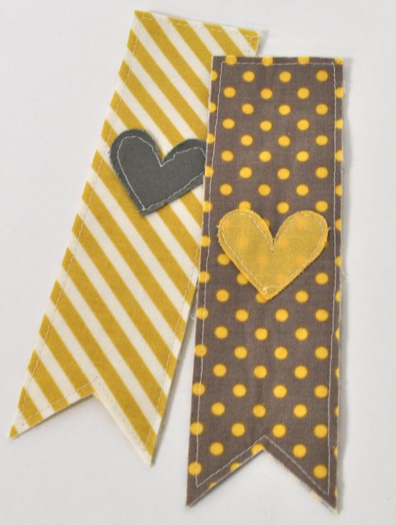 These are cute. Think I could manage without the silhouette though.  (Unless someone wants to buy me one :-)   Silhouette Blog: Back To School :: Fabric Bookmarks