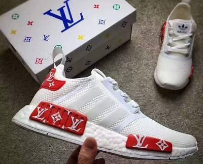 4777f26d8 CUSTOMIZED ADIDAS NMD R1 RUNNER TRIPLE ALL WHITE MESH MENS SIZE 9.5UK  Adidas Nmd R1