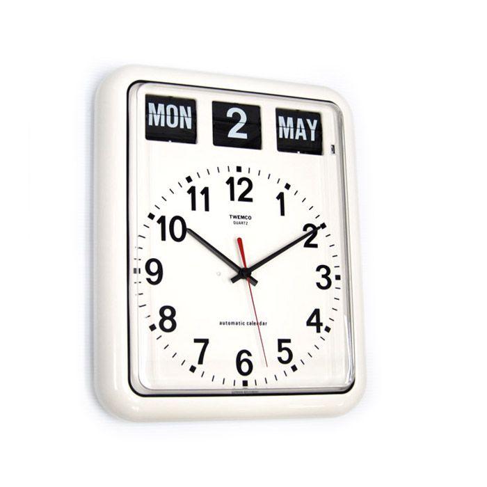 TWEMCO Calendar Wall Clock BQ-12A