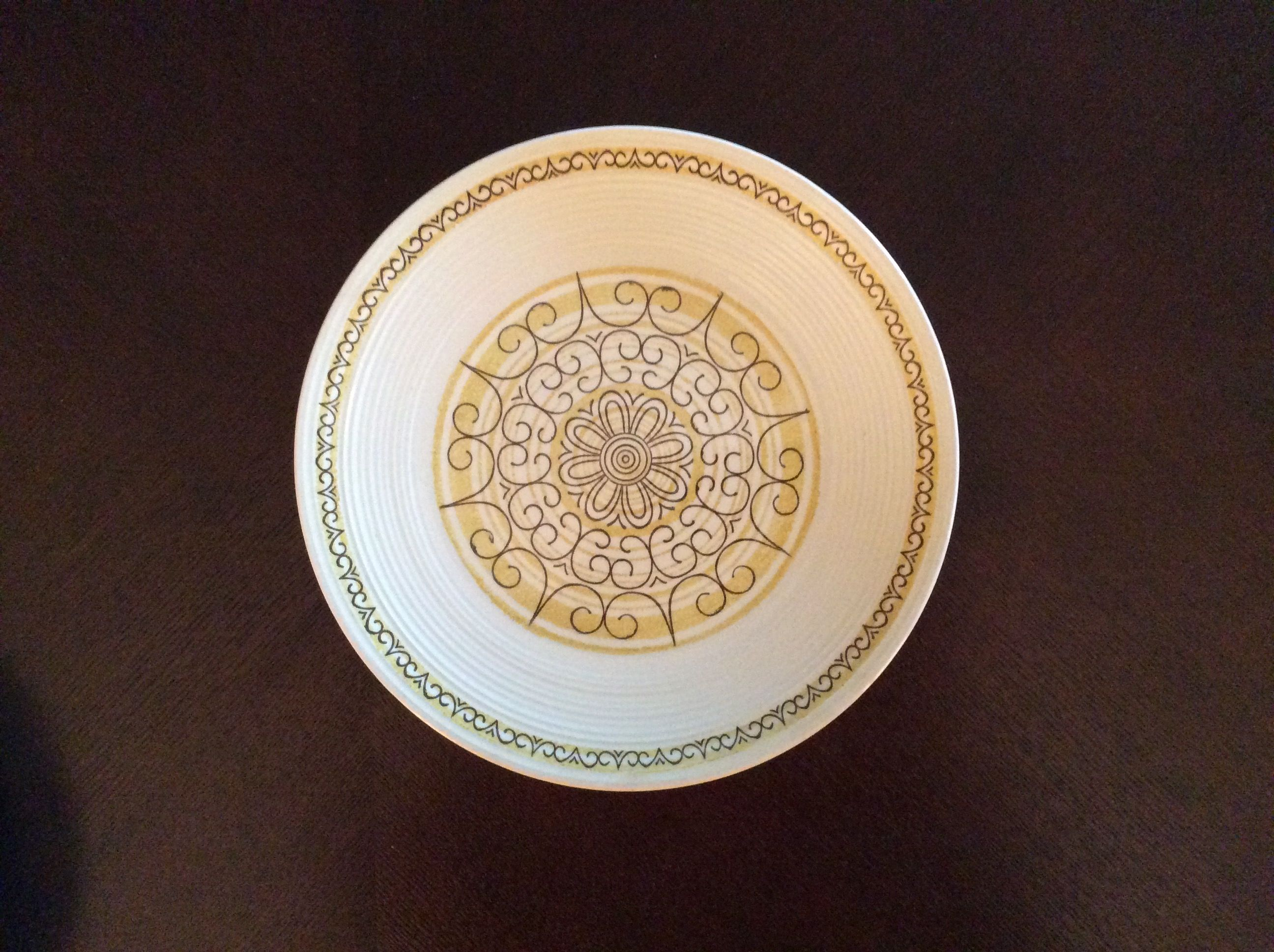 SIERRA Dinner plate Casual Ironstone from the Kilns of MS Made in USA Oven proof & Back of Sierra dinner plate Casual ironstone from the kilns of MS ...