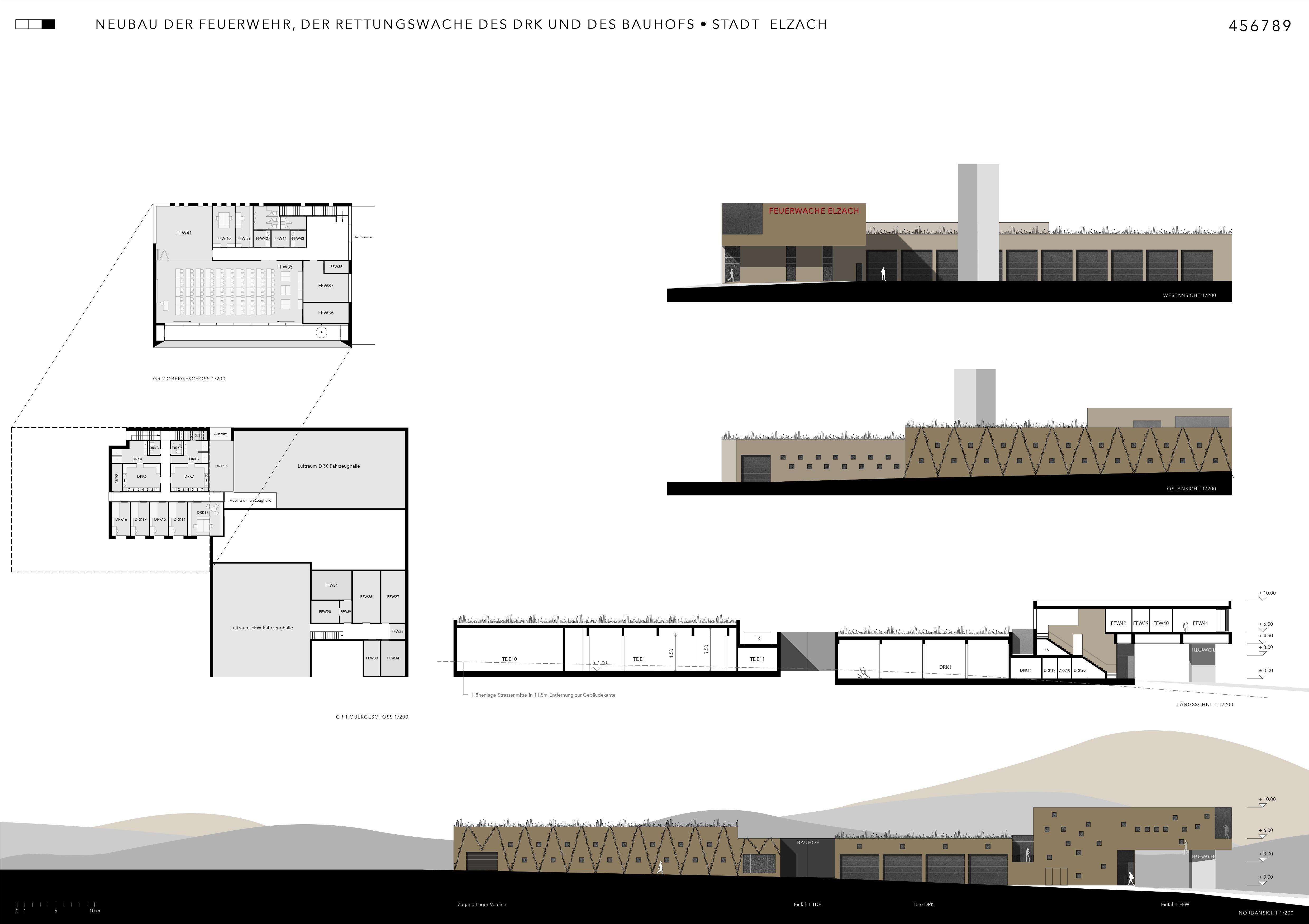 Neubau der Feuerwehr, der Rettungswache des DRK und des