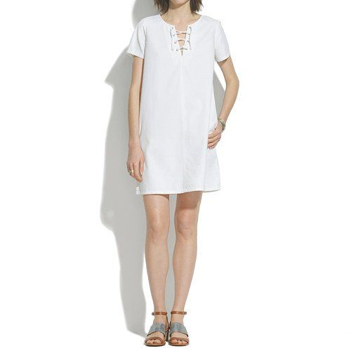 Pin for Later: Want a Cooler Dress? Just Add Pockets Madewell Lace-Up Dress Madewell Lace-Up Dress ($80, originally $110)