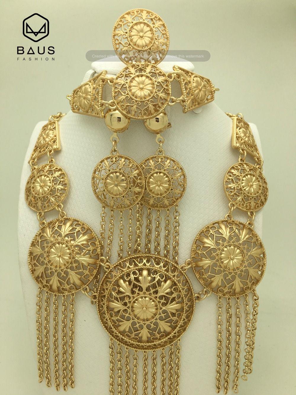 Fashion Eritrea Dubai indian arabic gold jewelry Set Ethiopian gold