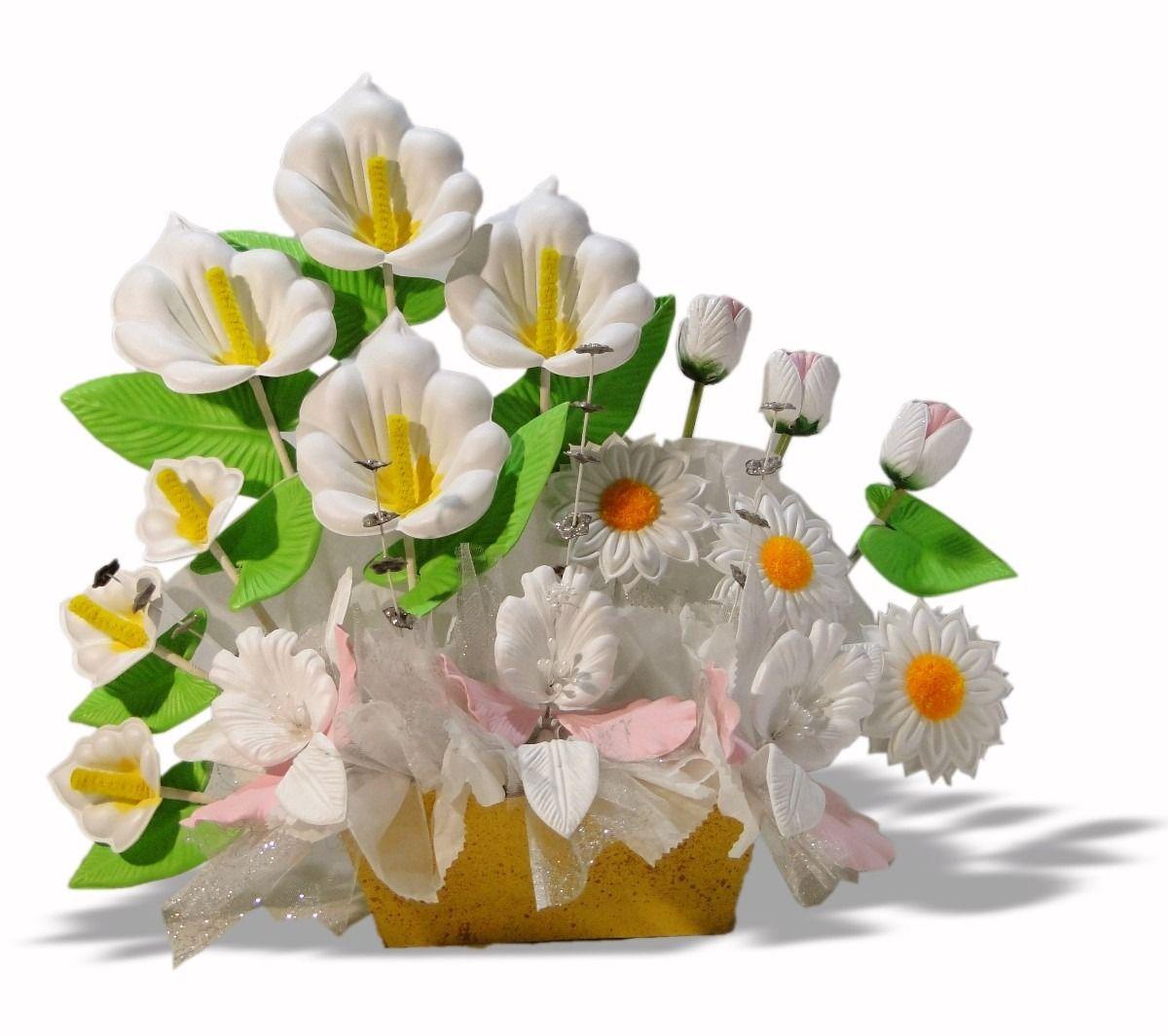 Arreglos florales de fomi paso a paso - Imagui | Flower arrangements,  Flower crafts, Flowers