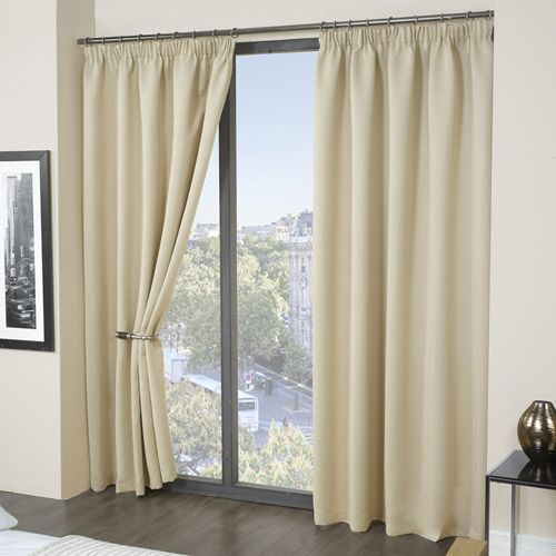 Thermal Supersoft Blackout Curtains Cream Tony S Textiles Thermal Curtains Black Blackout Curtains Curtains