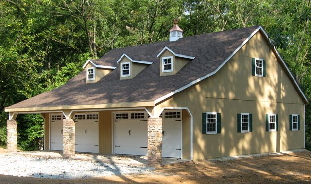 2 Car Garage Built On Site Garages Horizon Structures Garage Apartment Plans Garage Apartments Garage Plans