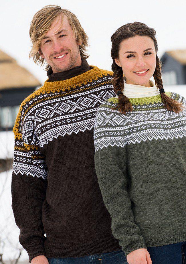 f7b82fe3 Marius genser - Oppskrifter - Sandnes Garn | Norsk sweater | Genser ...