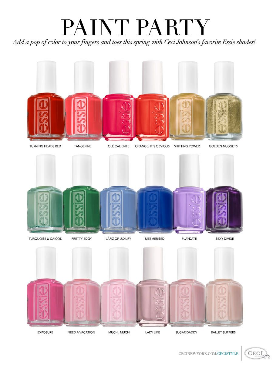 Nail Polish Colors from Essie | I Want . . . | Pinterest