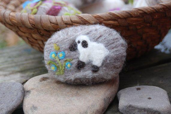Felted Soap Merino Wool Spring Lamb by BondurantMountainArt, $12.00