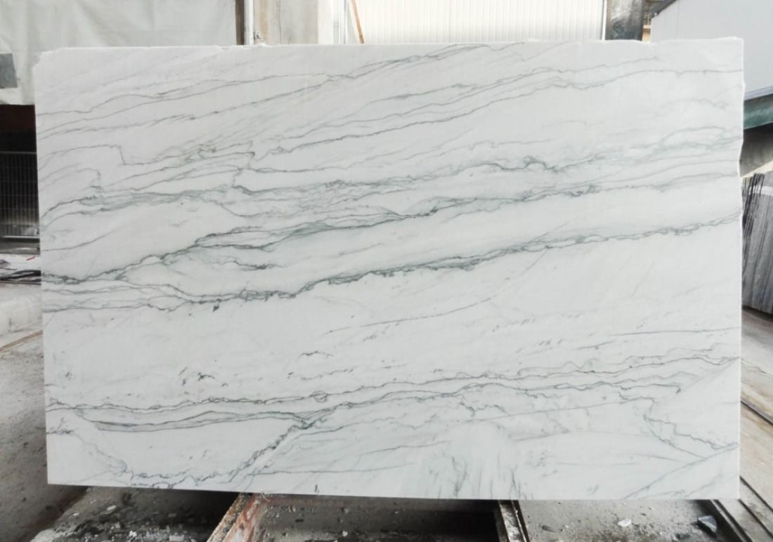 An Amazing Slab Of Opus White Honed Quartzite Seen On The Showroom Floor Here At Boston Granite Exchange Quartzite Countertops Countertops House Flooring