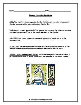 Genetics Genetic Disorder Brochure Project Brochures Genetics