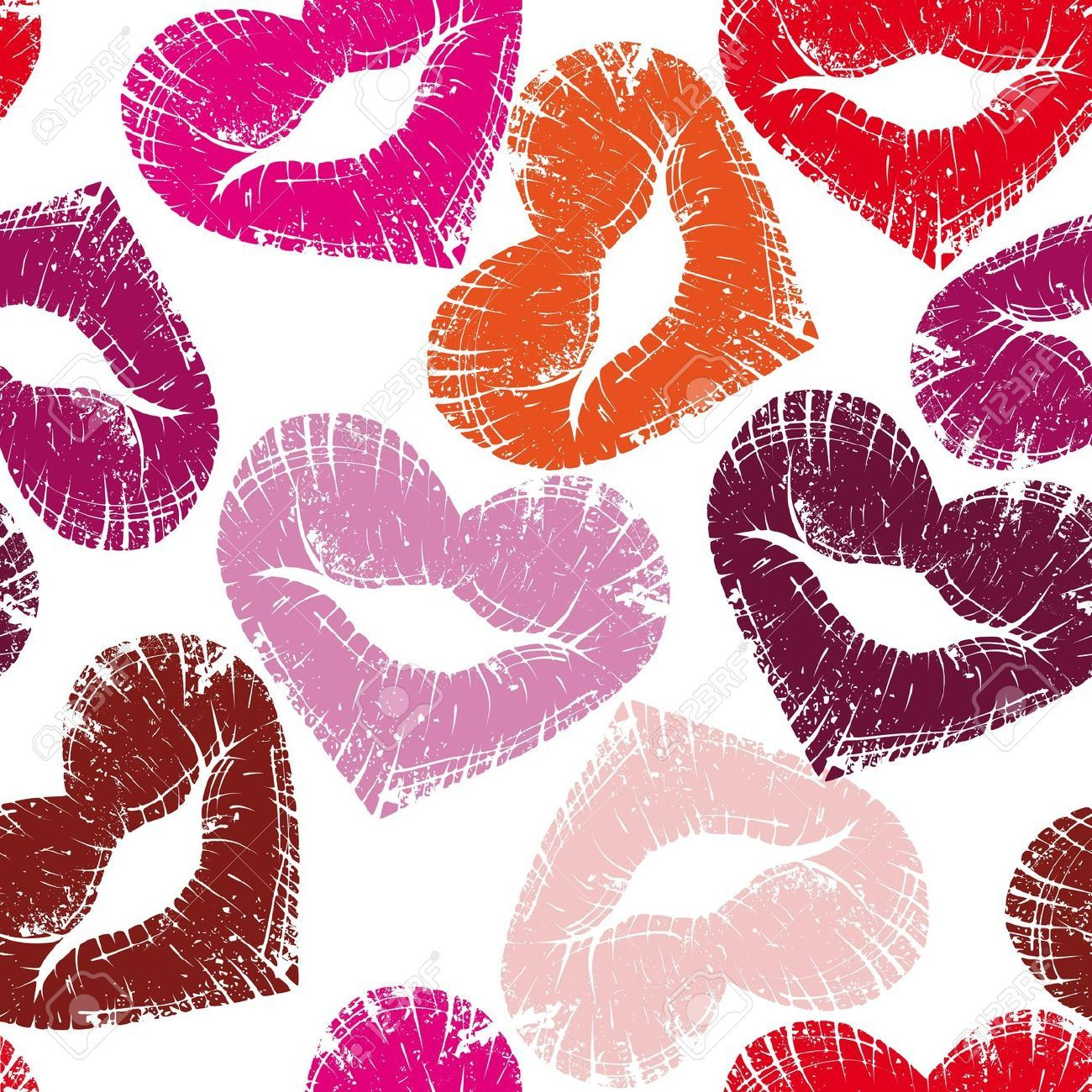 10507034 print of heart lips seamless kiss valentine - Cute Pictures To Print