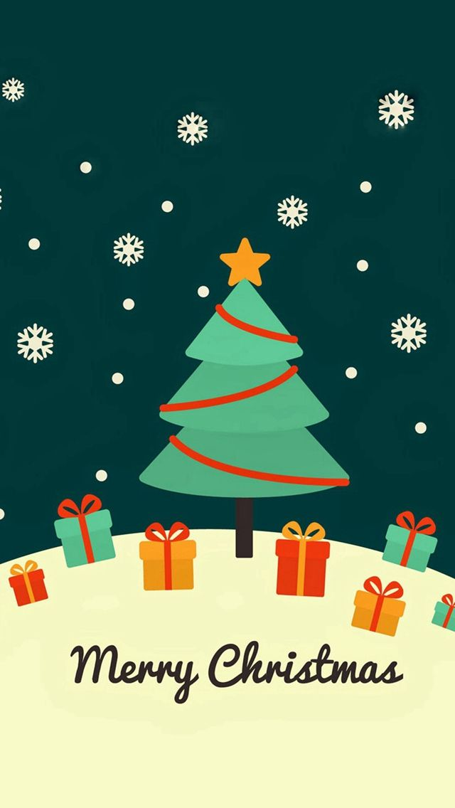 Cute Christmas Card Greeting Iphone 5s Wallpaper