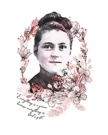 Saint Therese Of Lisieux Downloadable Printable Image Catholic Saints Quotes Wall Art By Benedictaboutique In 2020 St Therese Of Lisieux Catholic Saints Therese Of Lisieux
