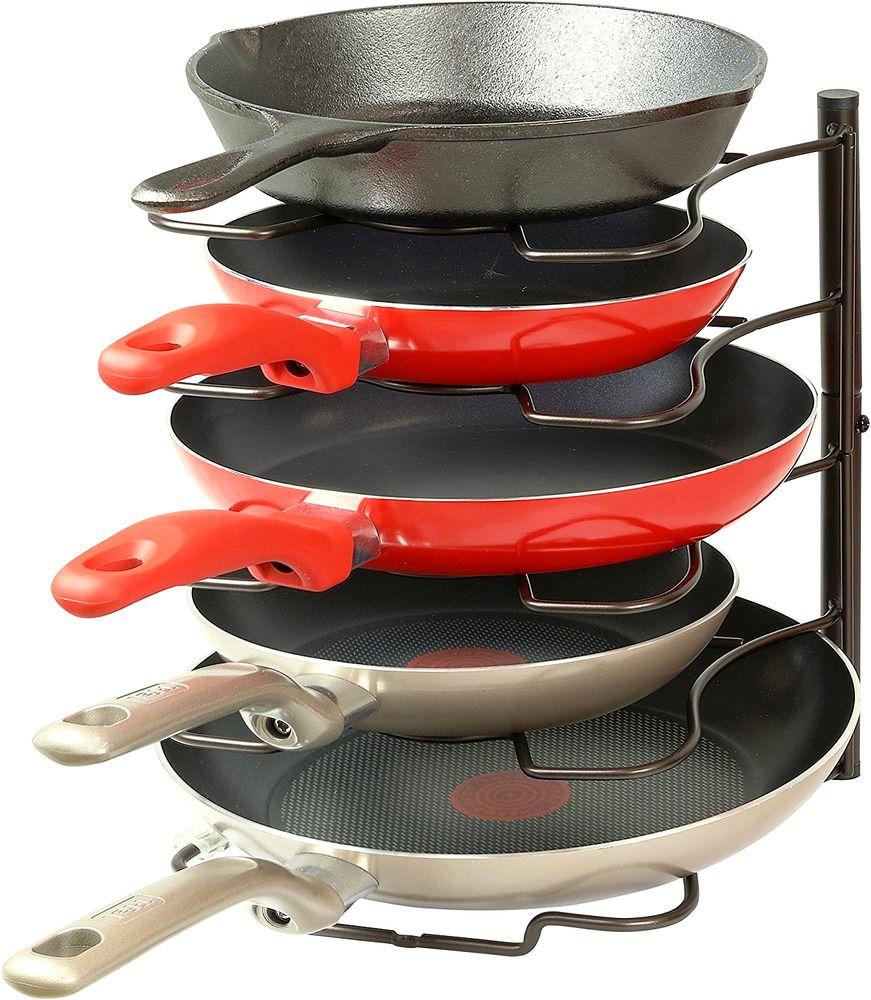 Simplehouseware Cocina De Despensa Pan Y Organizador De Tapa De Olla Del Sostenedor Del Estante B Hogar Y Jardin Pot Lids Pot Lid Organization Lid Organizer
