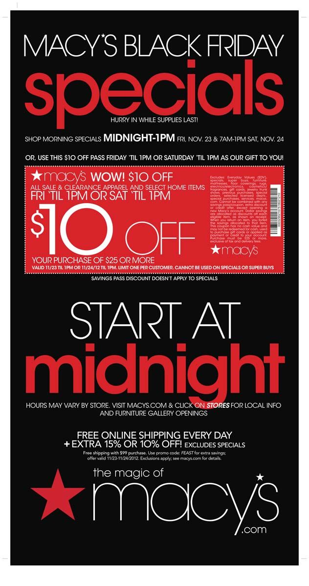 Macy S Black Friday Coupon 2012 Find 2012 Black Friday Ads At Black Friday By Bradsdeals Black Friday Coupon Macys Black Friday Black Friday Deals