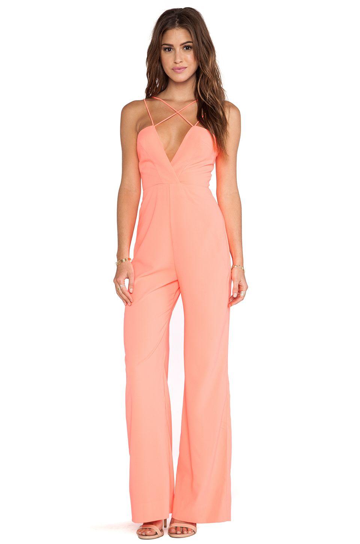 AQ/AQ Sane Jumpsuit in Pink Grapefruit | REVOLVE