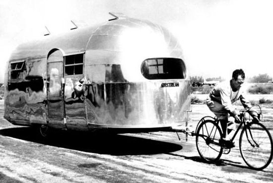 Cycling With An Airstream With Images Airstream Trailers