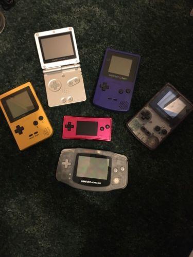 Gameboy advance sp pocket #micro #color gba 6x consoles bundle + 47