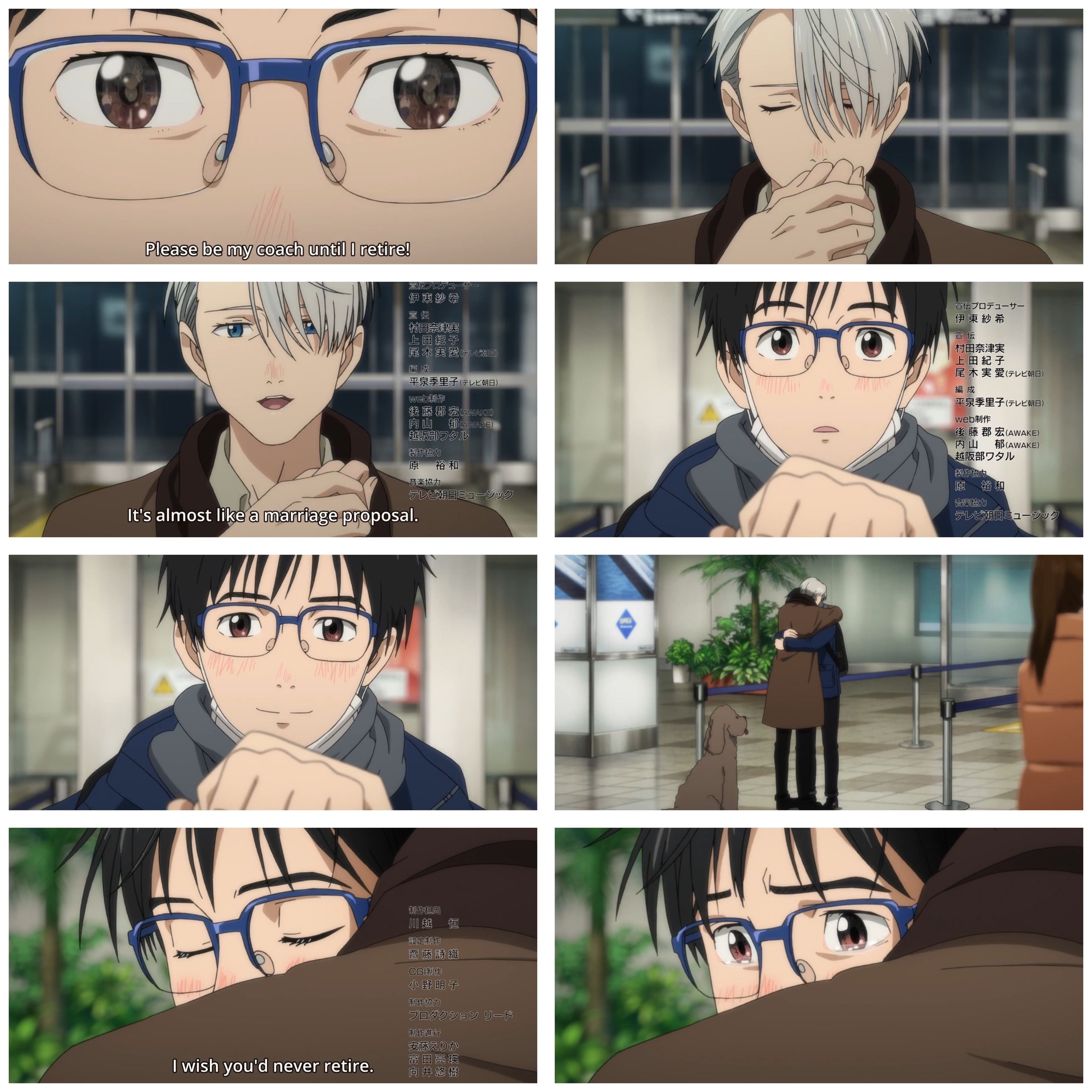 """""""It's almost like a marriage proposal."""" #yoi"""