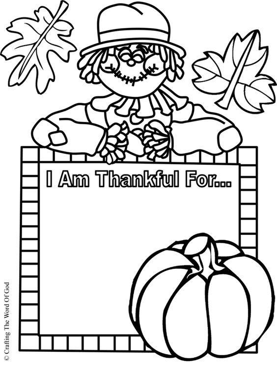 I Am Thankful Activity Sheet Sunday School Thanksgiving Sunday