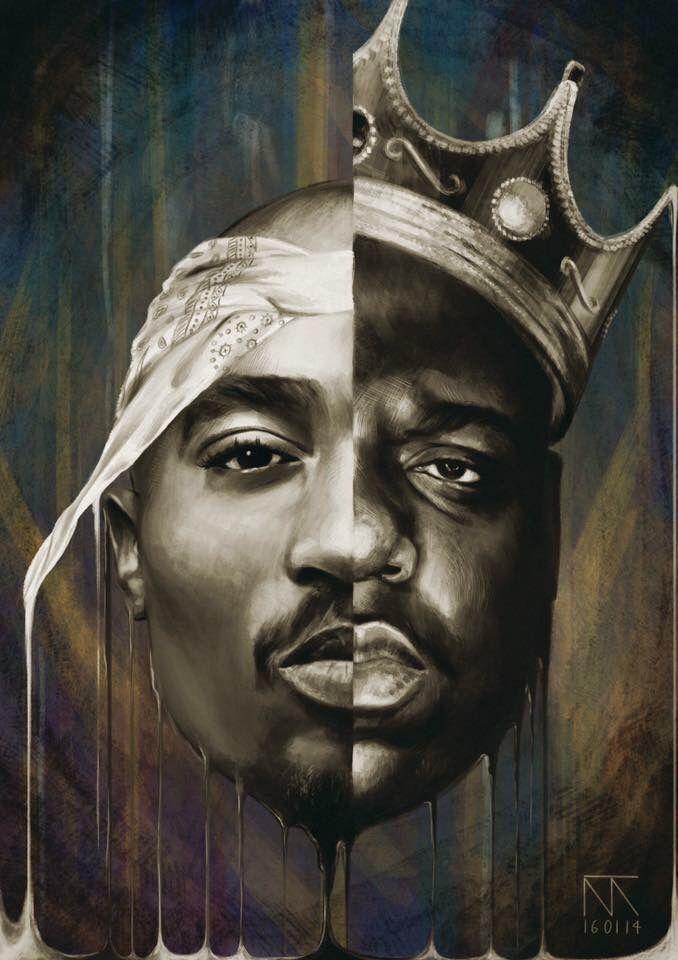 Tupac Biggie Tupac Art Hip Hop Art Rapper Art