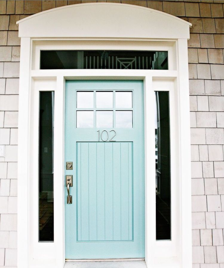 Best Wythe Blue Door Edgecomb Gray Shingles And Probably 400 x 300