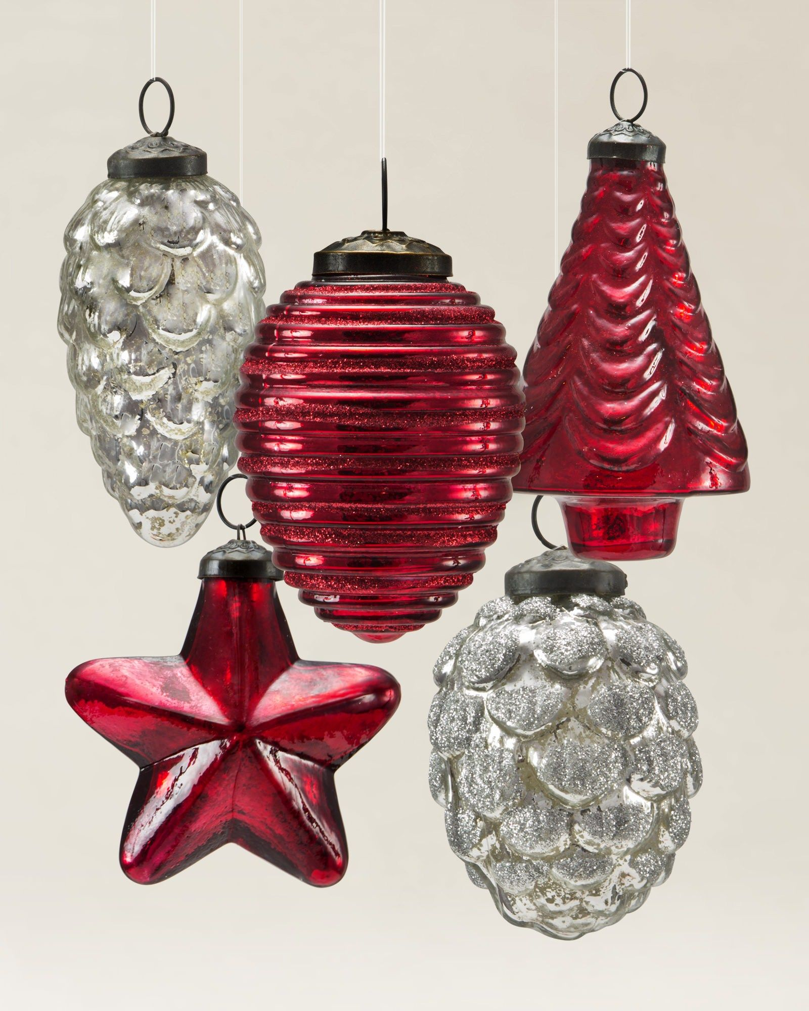 Mercury glass ornaments balsam hill christmas inspires