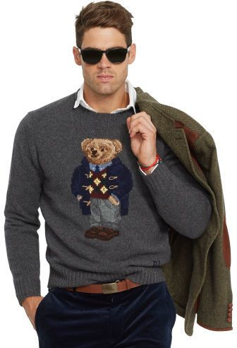 56a4affd0 Polo Ralph Lauren Argyle Polo Bear Wool Sweater
