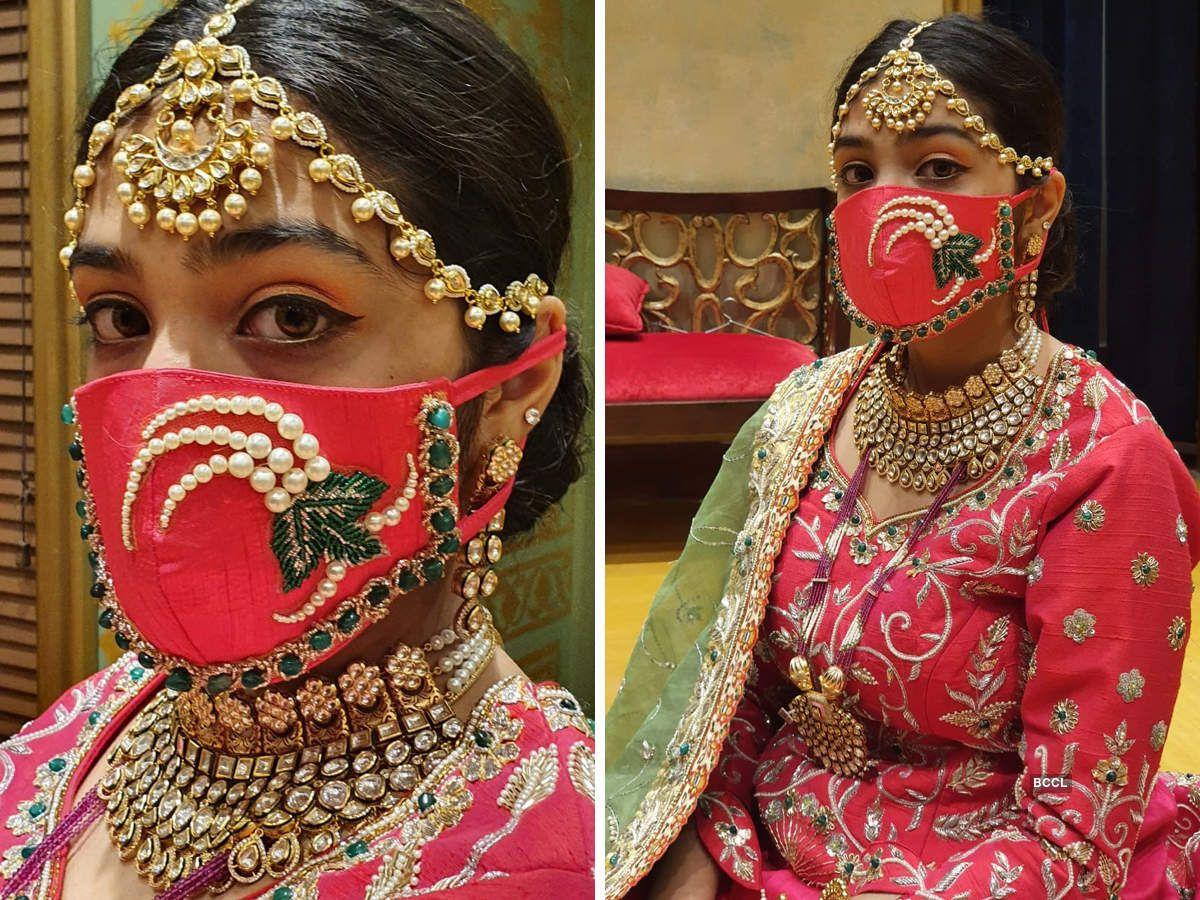 Bridal Design Masks in 2020 | Bridal mask, Indian bridal ...