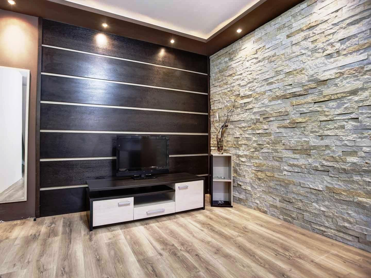 14+ attractive tile living room | modern wall paneling