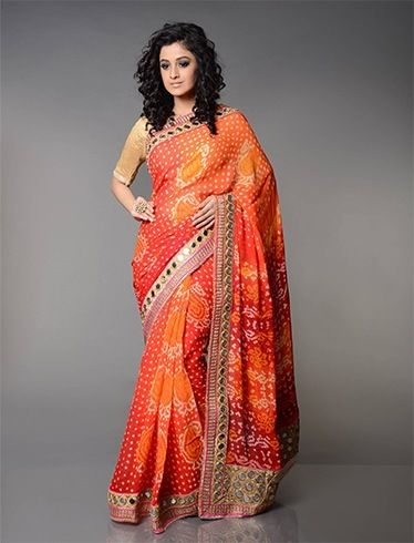 ab9a0e23b5 10 Bandhej Saree Designs That Surely Would Rock The Coming Of Spring ...