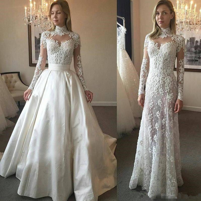 wedding dress with removable skirt uk