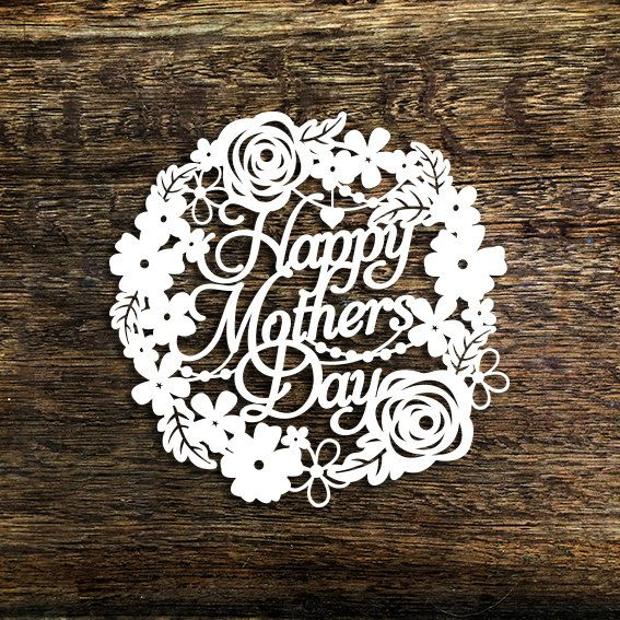 Papercut Template u0027Happy Motheru0027s Dayu0027 Card Making Motheru0027s Day - mothers day card template