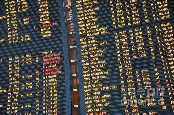 Arrival Board At Paris Charles De Gaulle International Airport By Sami Sarkis Paris Departures