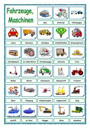 Fahrzeuge, Maschinen