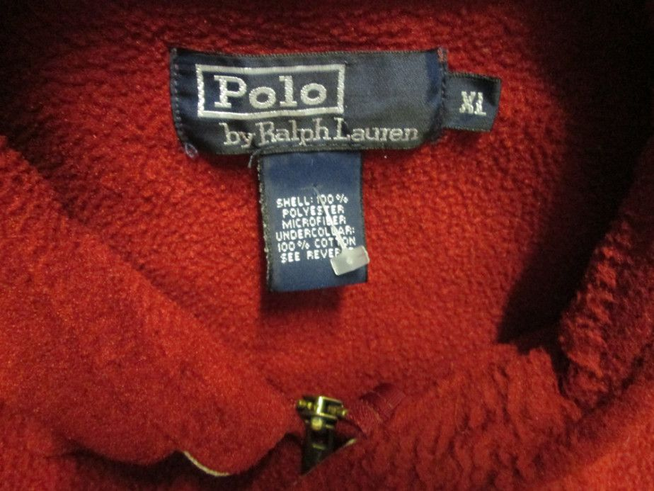 5e015a126 Vintage Polo by Ralph Lauren Red Fleece Jacket - Vintage 80s & 90s ...