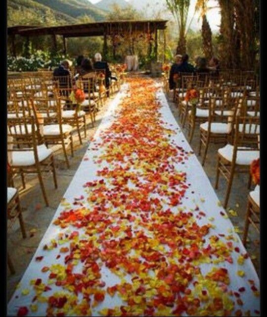 Fall themed Aisle