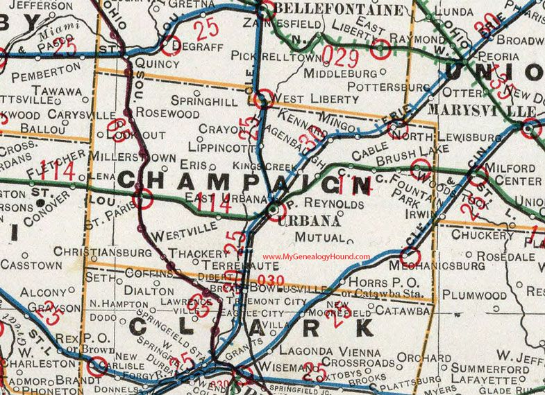 on champaign map