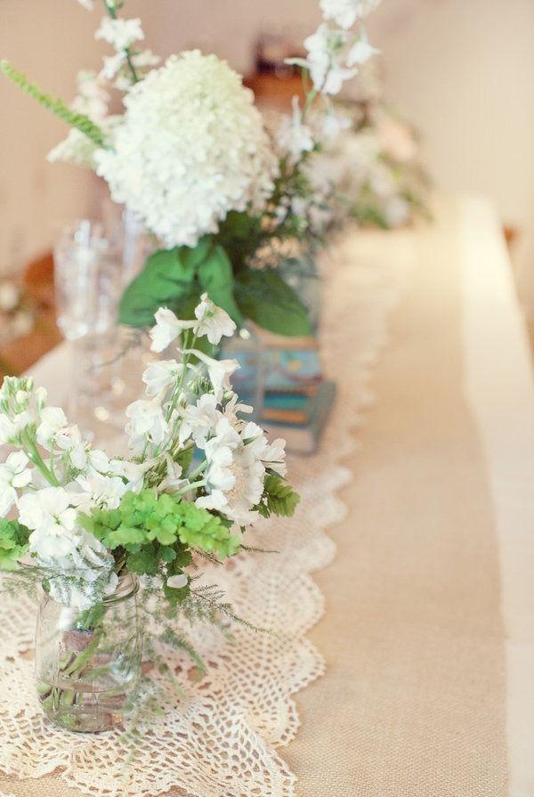 #wedding #table #flowers #decor #rustic