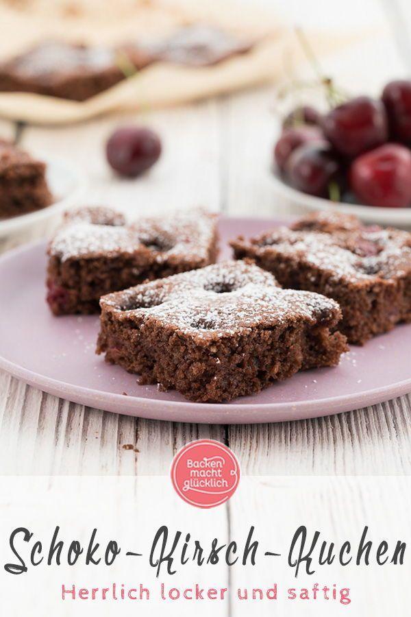 Leicht bittere Zartbitterschokolade und fruchtige Süßkirschen: Die Zutaten in ...   - Kuchen Rezepte -