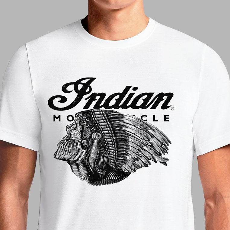 3e53d277119 Buy Indian Motorcycle T Shirt Apparel Women s Shirts Online For Sale Brand  Vintage Scout Logo White T-Shirts Old Chief Original Retro 1947 India  Clothing ...