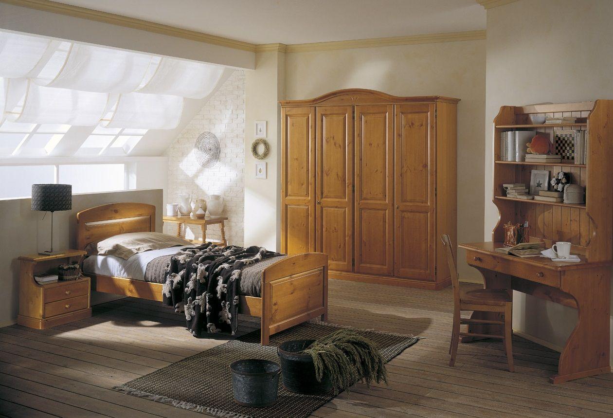 #Camera con letto singolo, scrittoio e libreria, armadio 4 ...